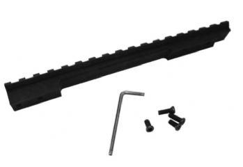 Nikko Stirling 1 piece Picatinny adapter Base scope Rail for Long Action Howa 1500 Weatherby Vanguard and other 1500 bases - Black
